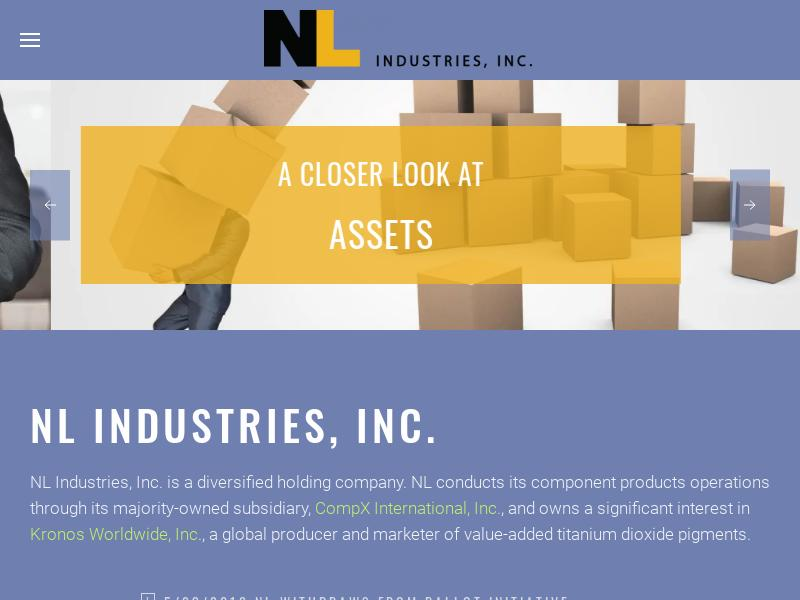 NL Industries, Inc. Made Headway