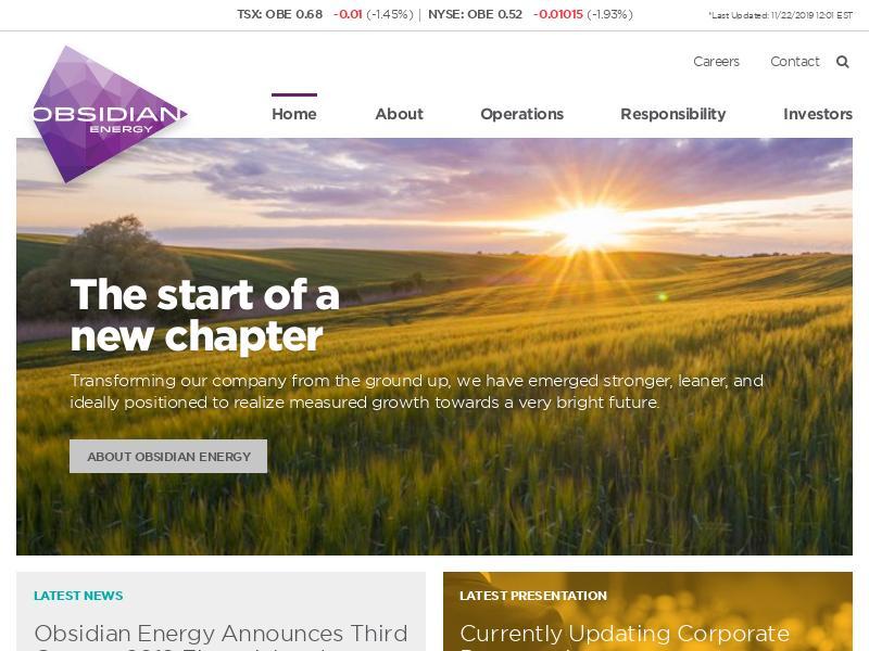 Big Move For Obsidian Energy Ltd.