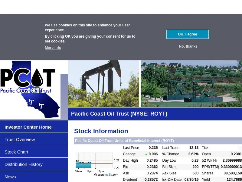 A Win For Pacific Coast Oil Trust
