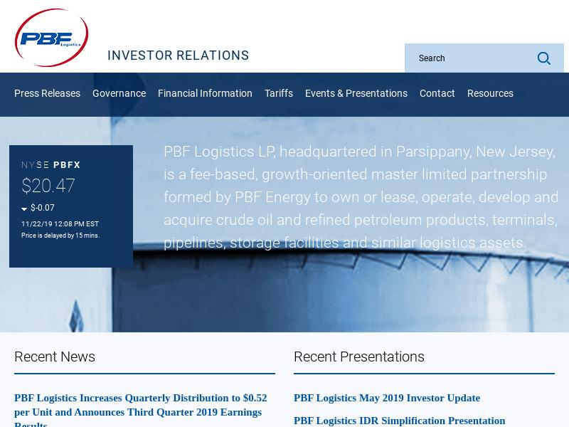 Big Move For PBF Logistics LP