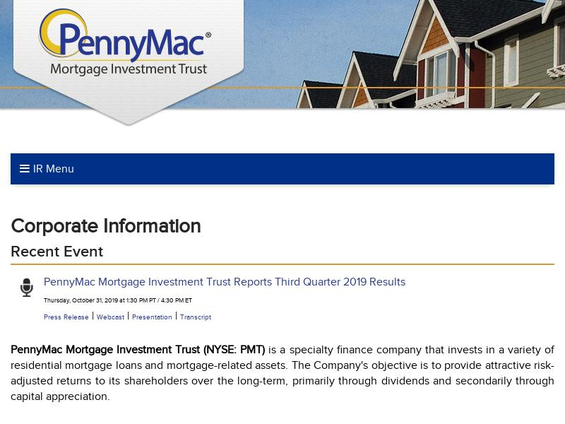 A Win For PennyMac Mortgage Investment Trust
