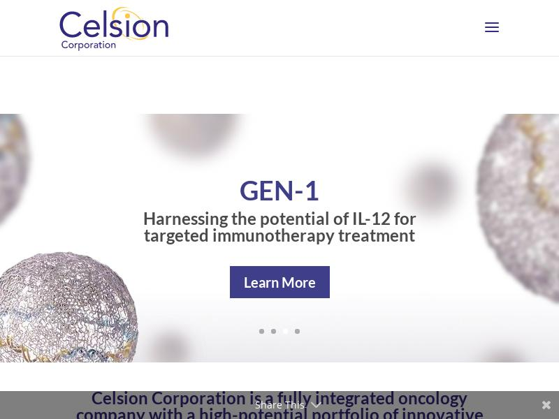 Celsion Corporation Gains 28.94%