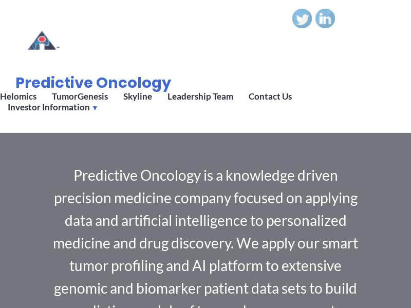 Big Gain For Predictive Oncology Inc.