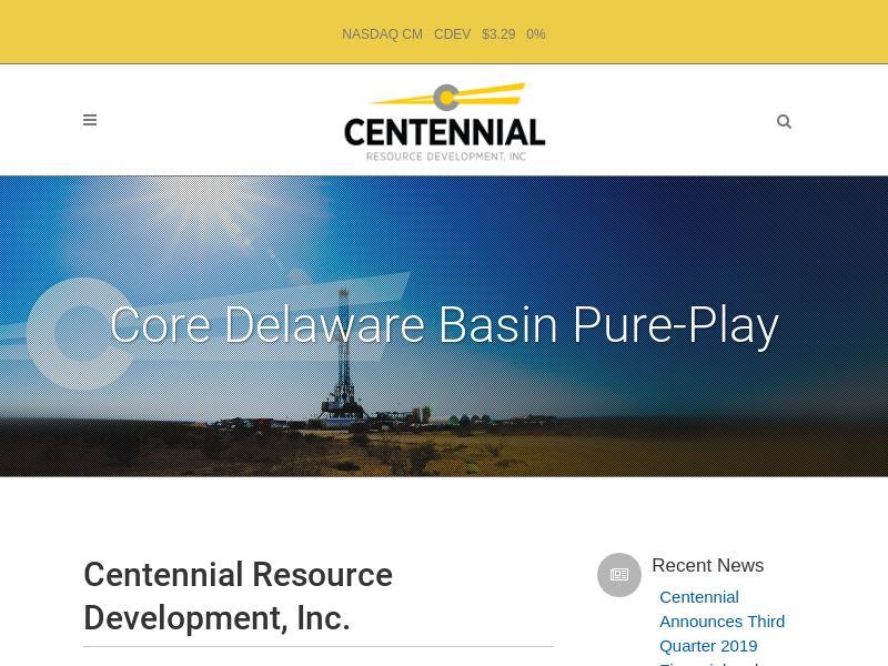 A Day Up For Centennial Resource Development, Inc.