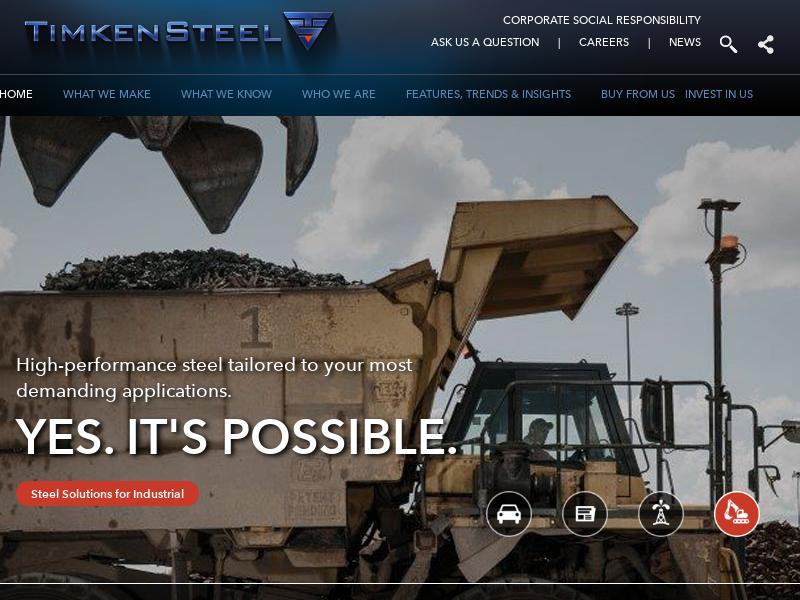 TimkenSteel Corporation Gains 18.6%