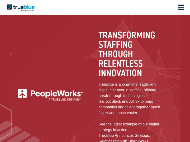 Big Move For TrueBlue, Inc.