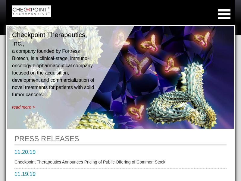 A Day Up For Checkpoint Therapeutics, Inc.