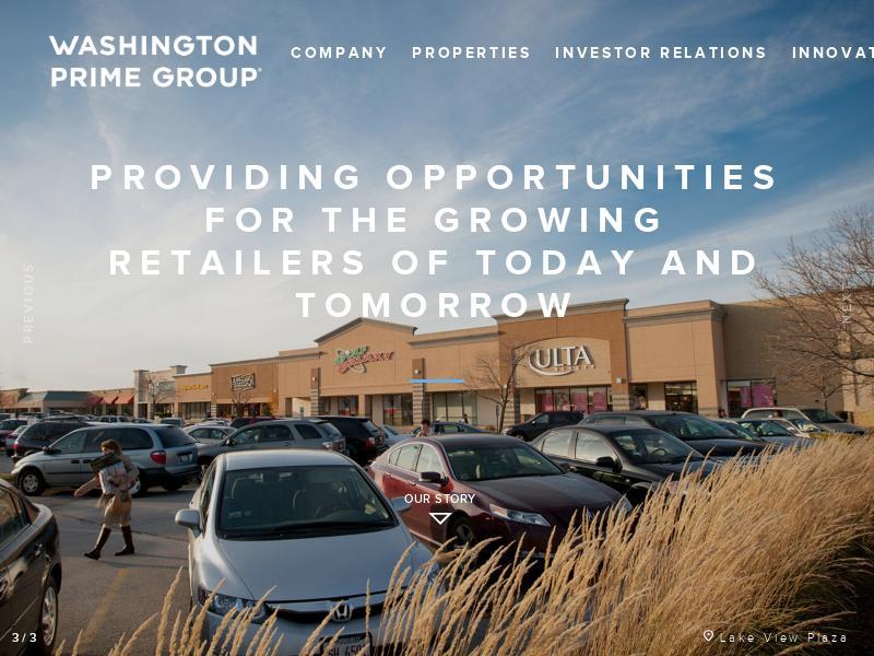Washington Prime Group Inc. Recorded Big Gain