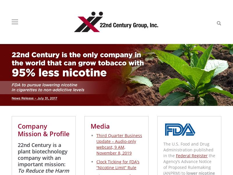 Big Gain For 22nd Century Group, Inc.