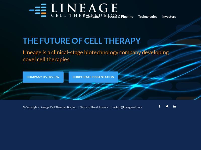 Big Move For Lineage Cell Therapeutics, Inc.