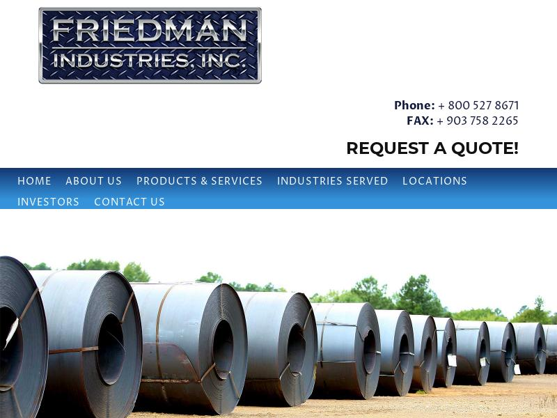Friedman Industries, Incorporated Soared