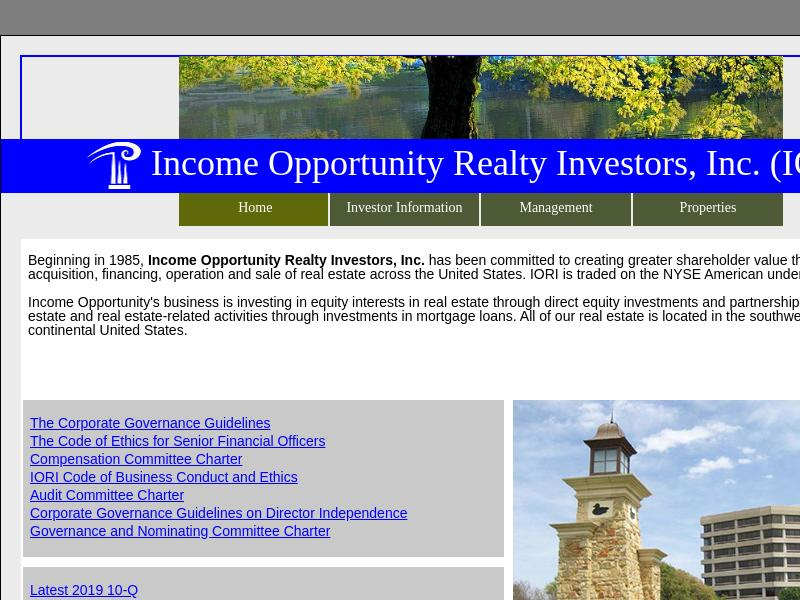 Income Opportunity Realty Investors, Inc. Gains 28.43%