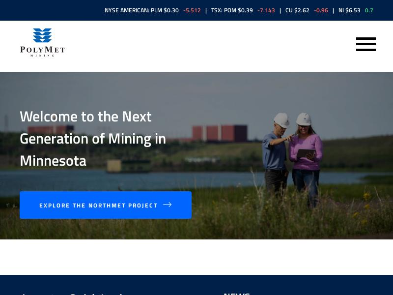 PolyMet Mining Corp. Gains 35.93%