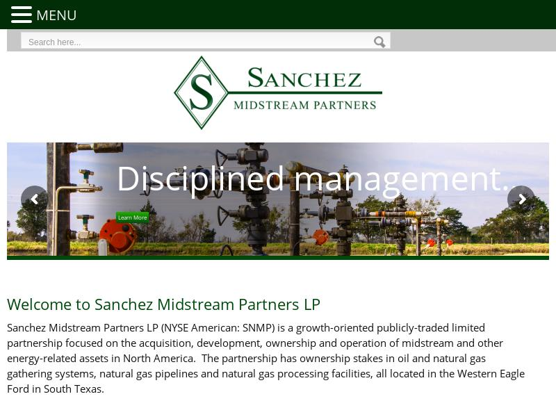 Sanchez Midstream Partners LP Recorded Big Gain