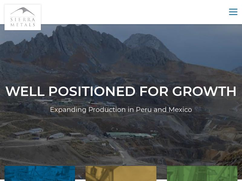 Big Move For Sierra Metals Inc.