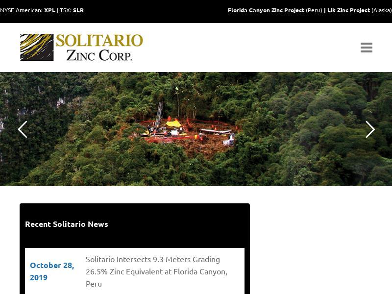 Solitario Zinc Corp. Made Big Gain