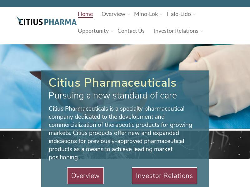 Citius Pharmaceuticals, Inc. Made Headway