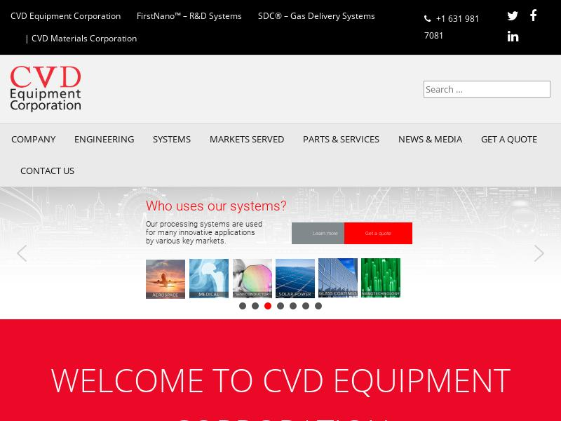 A Win For CVD Equipment Corporation