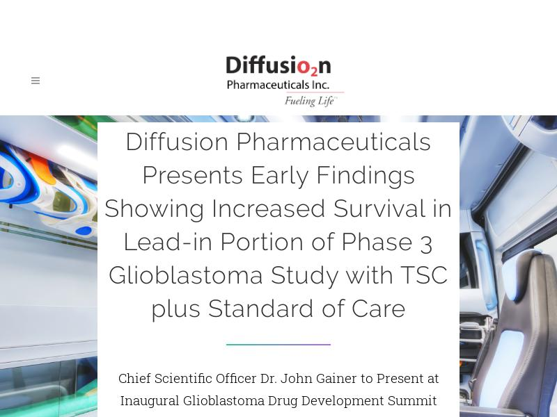 Diffusion Pharmaceuticals Inc. Gains 28.46%