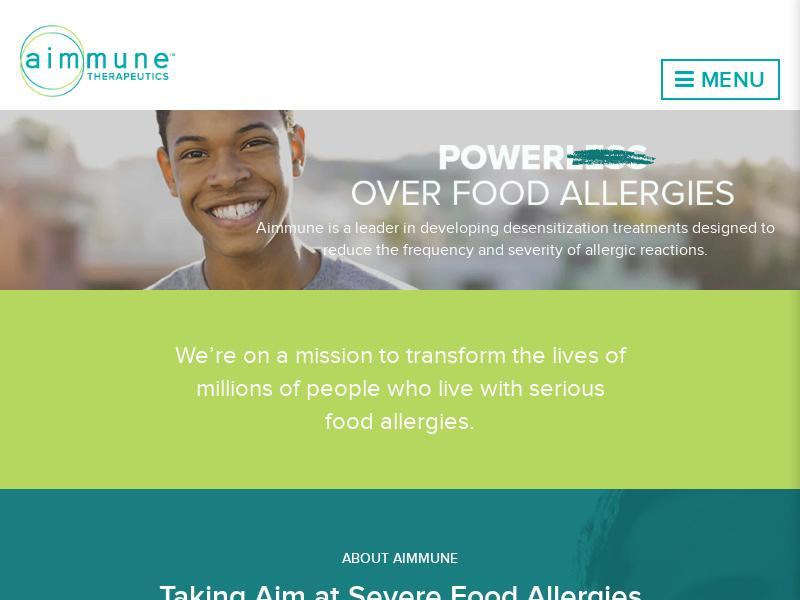 Big Gain For Aimmune Therapeutics, Inc.