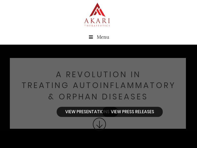Akari Therapeutics, Plc Gains 25.43%